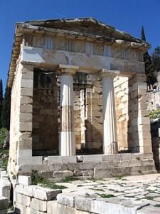 trésor des Athéniens, Delphes (Wikicommon)