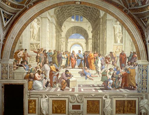 L'école d'Athènes de Raphaël