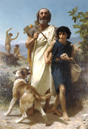 W.A. Bouguereau, Homère et son guide, 1874 (Layton art collection) wikicommons