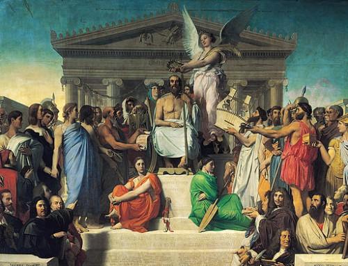 Ingres, L'apothéose d'Homère, 1827, Musée du Louvre  (Wikicommons)