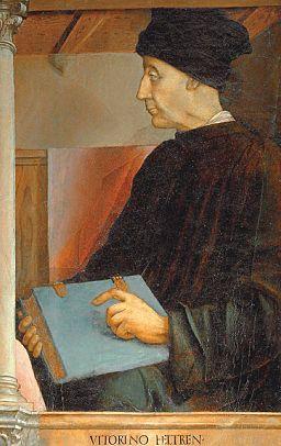 Portrati de Vittorino da Feltre par Pedro Berruguete, Louvre, Wikicommons