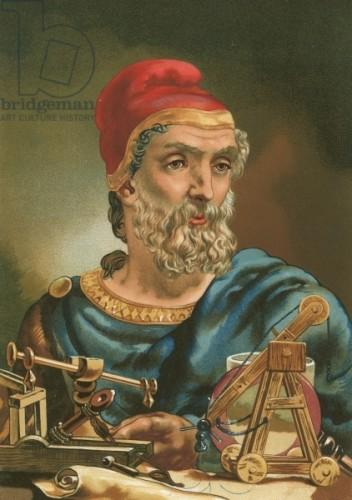 Archimède peint par Planella Coromina, Josep ou Jose (1804-90) wikicommons