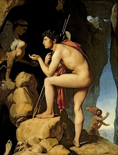 J.A.D. Ingres, Oedipe et le Sphinx, Louvres-Lens, 1808,1827 (wikicommons)