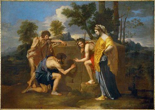 Nicolas Poussin, Les bergers d'Arcadie, 1637-1638, Louvre (Wikicommons)