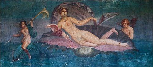 Aphrodite sortant de l'eau, Pompéi, (wikicommons)